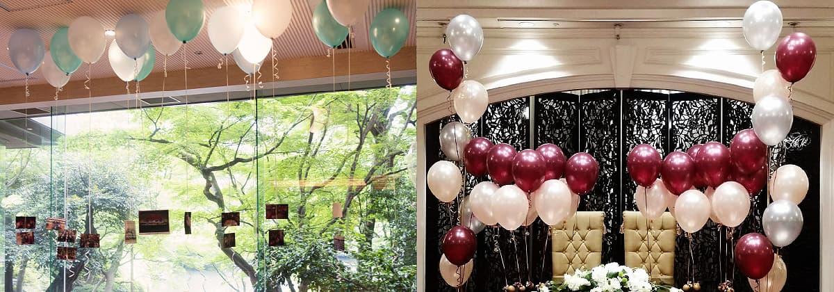 結婚式やパーティー、イベントでのバルーン装飾 写真を付けたバルーン 披露宴でのバルーン装飾