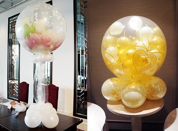 結婚式や二次会、イベント、パーティーのメインテーブルで使う大型バルーンスパーク