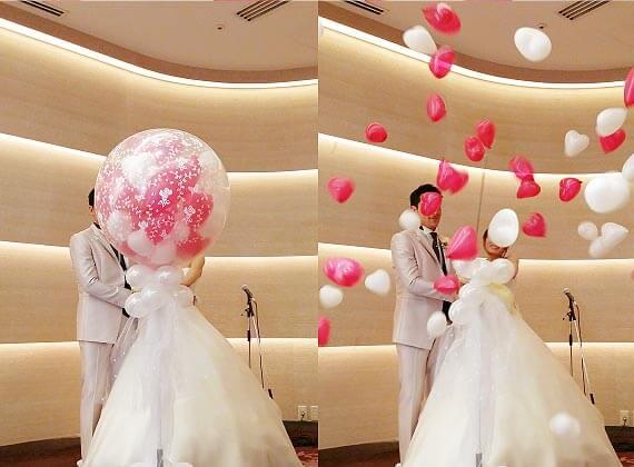 結婚式や二次会での大型バルーンスパークがスパークする瞬間